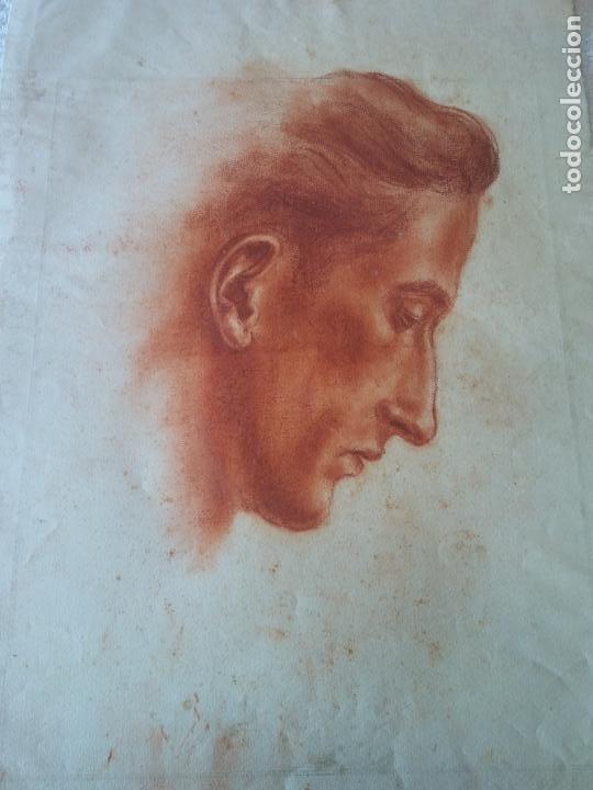 ORIGINAL. OBRA DE FRANCESC GASSÓ. HOMBRE. MEDIDAS 35*47 CM (Arte - Dibujos - Contemporáneos siglo XX)
