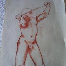Arte: ORIGINAL. OBRA DE FRANCESC GASSÓ. HOMBRE. MEDIDAS 44*28 CM. Lote 215267630