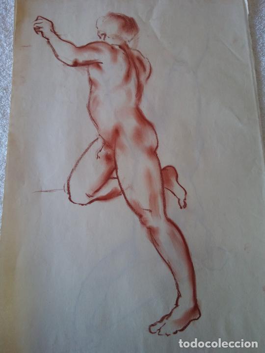 ORIGINAL. OBRA DE FRANCESC GASSÓ. HOMBRE. MEDIDAS 44*28 CM (Arte - Dibujos - Contemporáneos siglo XX)