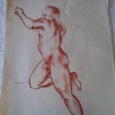 Arte: ORIGINAL. OBRA DE FRANCESC GASSÓ. HOMBRE. MEDIDAS 44*28 CM. Lote 215267690