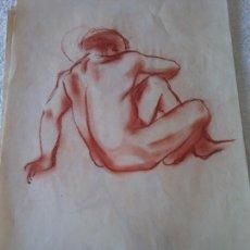 Arte: ORIGINAL. OBRA DE FRANCESC GASSÓ. HOMBRE. MEDIDAS 44*28 CM. Lote 215267725