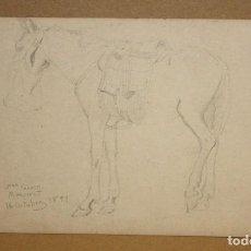 Arte: ANONIMO. DIBUJO A CARBÓN FECHADO DEL AÑO 1871. TITULADO SAN JERONI (MONTSERRAT). Lote 215423277