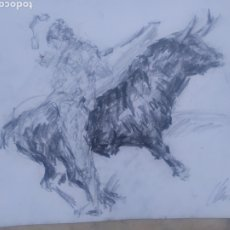 Arte: DIBUJO TAURINO (ORIGINAL). Lote 215825983
