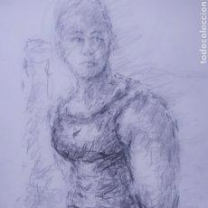 Arte: CULTURISTA (ORIGINAL). Lote 276935788