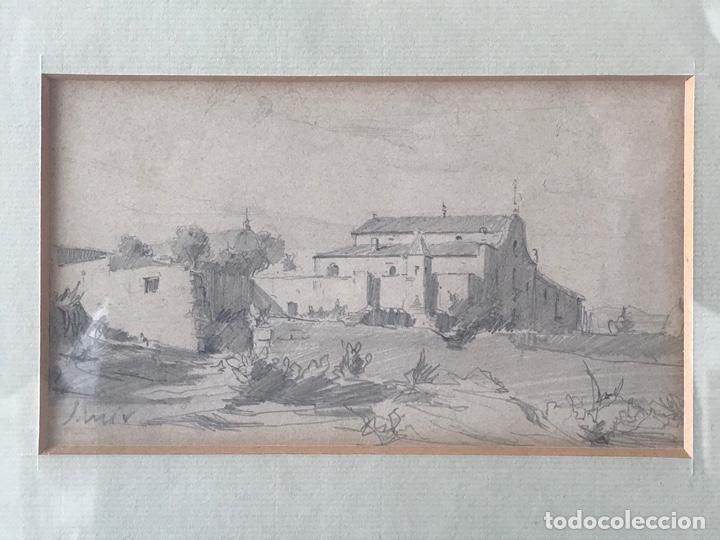 JOAQUIM MIR (1873-1940) IMPORTANTE DIBUJO A LÁPIZ. PRINCIPIOS DEL S.XX. (Arte - Dibujos - Contemporáneos siglo XX)
