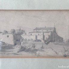 Arte: JOAQUIM MIR (1873-1940) IMPORTANTE DIBUJO A LÁPIZ. PRINCIPIOS DEL S.XX.. Lote 216421578