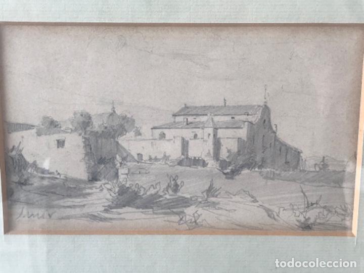 Arte: JOAQUIM MIR (1873-1940) IMPORTANTE DIBUJO A LÁPIZ. PRINCIPIOS DEL S.XX. - Foto 2 - 216421578