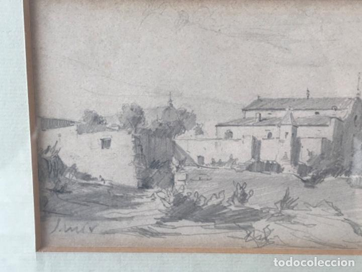 Arte: JOAQUIM MIR (1873-1940) IMPORTANTE DIBUJO A LÁPIZ. PRINCIPIOS DEL S.XX. - Foto 3 - 216421578