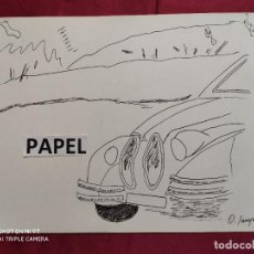 Arte: DIBUJO ORIGINAL A TINTA CHINA . FIRMADO. O. JUNYENT. 31,5 X 23 CMS.. Lote 216476090