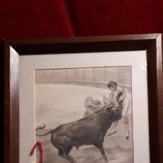 Arte: TOROS . DIBUJO DE 1930.. Lote 216517088