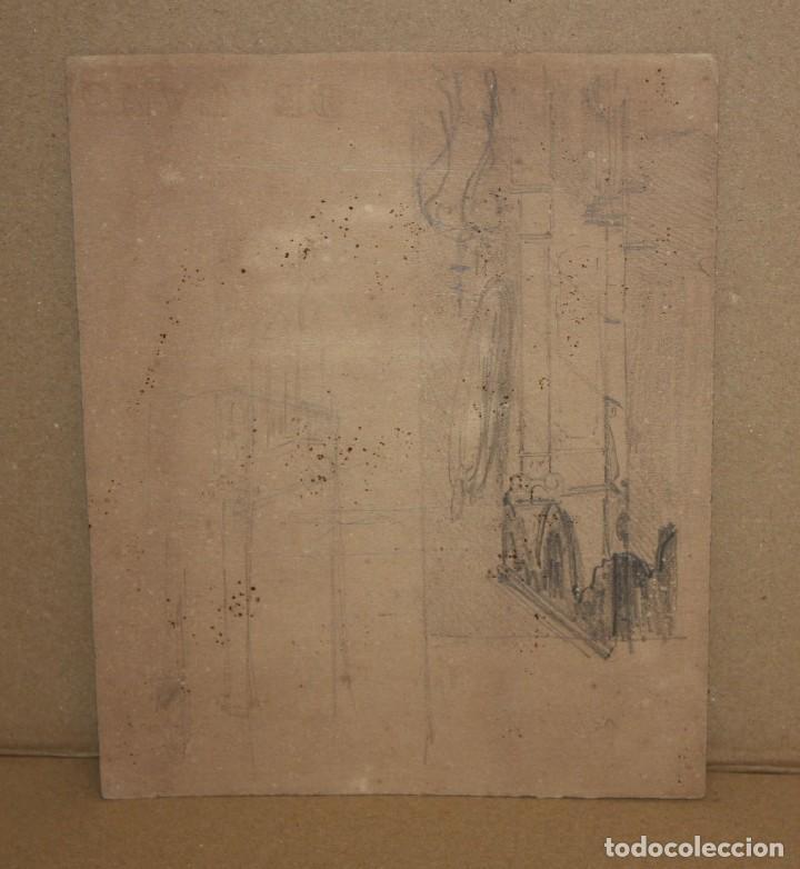 Arte: ANONIMO. DIBUJO A LAPIZ Y CLARION DEL SIGLO XIX. PAISAJE - Foto 2 - 216670108