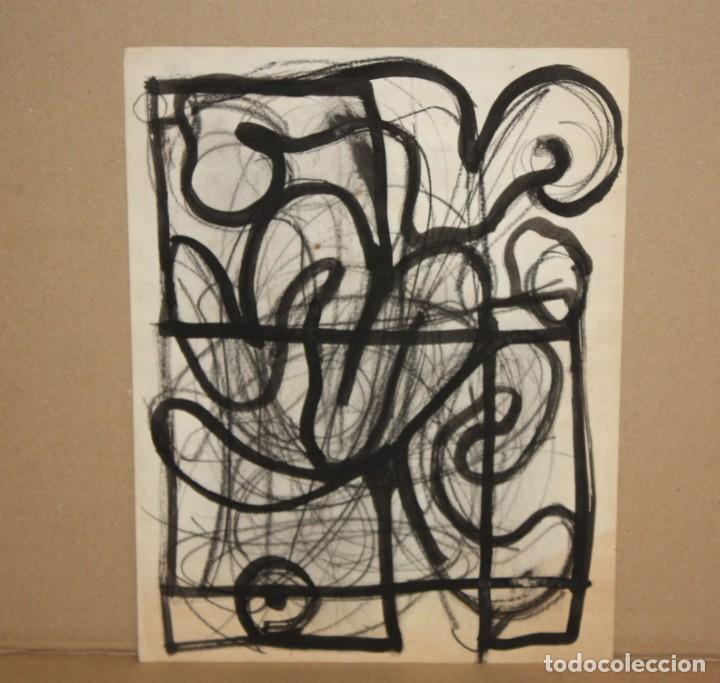 ANONIMO. TECNICA MIXTA SOBRE PAPEL. ABSTRACTO (Arte - Dibujos - Contemporáneos siglo XX)