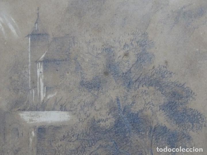 Arte: Dibujo a lápiz y clarion anonimo del año 1876. - Foto 5 - 216931216