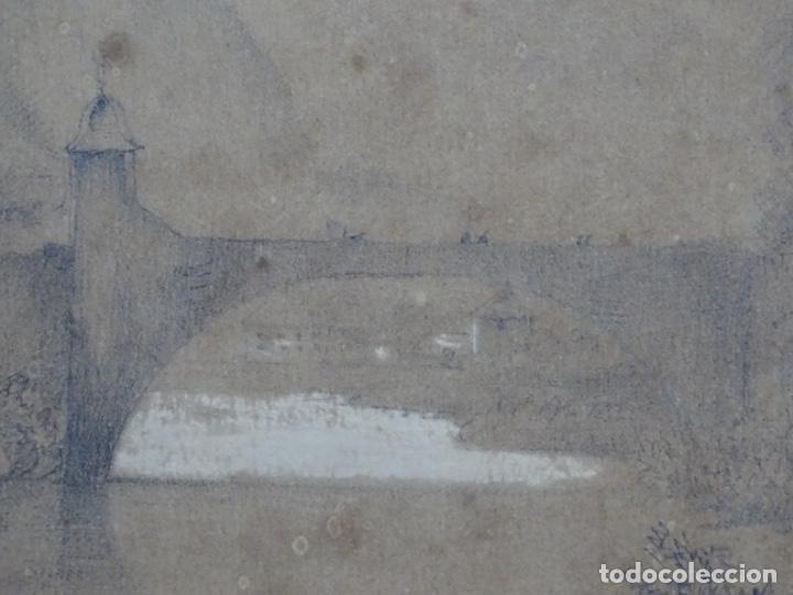 Arte: Dibujo a lápiz y clarion anonimo del año 1876. - Foto 6 - 216931216