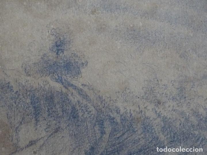 Arte: Dibujo a lápiz y clarion anonimo del año 1876. - Foto 8 - 216931216