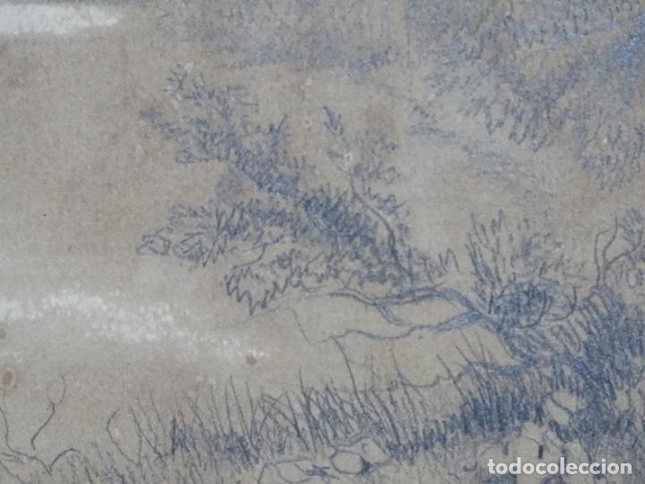 Arte: Dibujo a lápiz y clarion anonimo del año 1876. - Foto 9 - 216931216