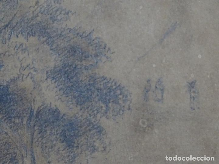 Arte: Dibujo a lápiz y clarion anonimo del año 1876. - Foto 10 - 216931216