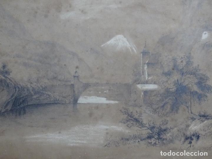 Arte: Dibujo a lápiz y clarion anonimo del año 1876. - Foto 13 - 216931216