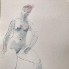 Arte: DIBUJO A LA CERA DE EMÍLIA CASTAÑEDA.. Lote 216954590
