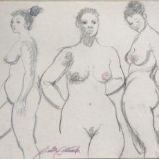 Arte: DIBUJO DE EMÍLIA CASTAÑEDA.. Lote 216955815