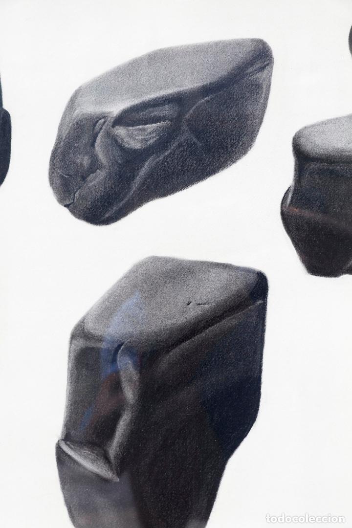 Arte: Alicia Alonso, piedras, 1984, dibujo, firmado, con marco. 60x45cm - Foto 3 - 217198073