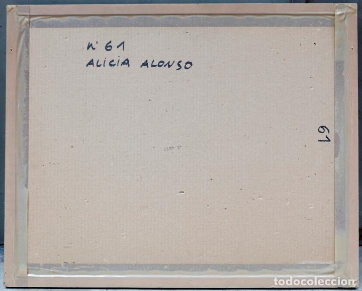 Arte: Alicia Alonso, piedras, 1984, dibujo, firmado, con marco. 60x45cm - Foto 5 - 217198073