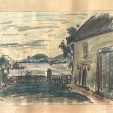 Arte: PAISAJE TÉCNICA MIXTA FIRMADO ADLER 1964.. Lote 217199350