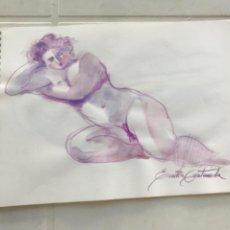 Arte: EMÍLIA CASTAÑEDA. BLOC DE LA ARTISTA CON 13 DIBUJOS.. Lote 217313373