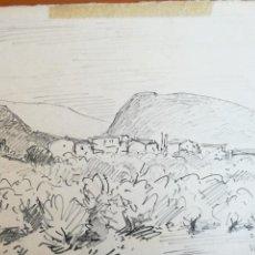 Arte: SEBASTIÀ CONGOST I PLA (OLOT 1919 - 2009) - DIBUJO PAPEL FIRMADO - ESCUELA DE OLOT. Lote 217443068