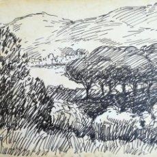 Arte: SEBASTIÀ CONGOST I PLA (OLOT 1919 - 2009) - DIBUJO PAPEL FIRMADO - ESCUELA DE OLOT. Lote 217443166