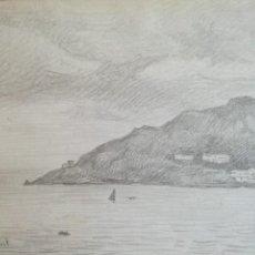 Arte: SEBASTIÀ CONGOST I PLA (OLOT 1919 - 2009) - DIBUJO PAPEL FIRMADO - ESCUELA DE OLOT. Lote 217443256