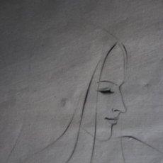 Arte: EXQUISITO DIBUJO AL CARBONCILLO CON FIRMA ILEGIBLE DE 31X47 ENMARCADO EN 50X80. AÑO1971. BUEN ESTADO. Lote 217628892