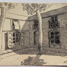 Arte: FRANCESC GARCIA ESTRAGUES - EL RINCÓN. 1935. Lote 217646078