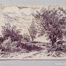 Arte: JAUME FLORENSA - PAISAJE CON ARBOLES. Lote 217646647