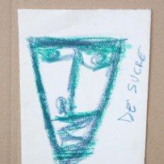 Arte: FIRMADO DE SUCRE. DIBUJO A CERAS. MASCARA. Lote 217695641