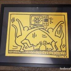 Arte: KEITH HARING DIBUJO SOBRE PAPEL COA. Lote 217814136