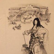 Arte: HANNOVER Y MONARQUIA FRANCESA. DIBUJO ORIGINAL, MONNERAT (SUIZA 1917- ESPAÑA 2005). Lote 217841475