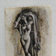 Arte: ANONIMO. TECNICA MIXTA SOBRE PAPEL. DESNUDO FEMENINO. Lote 218086360