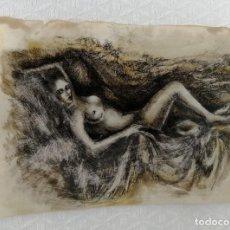 Arte: ANONIMO. TECNICA MIXTA SOBRE PAPEL. DESNUDO FEMENINO. Lote 218086510