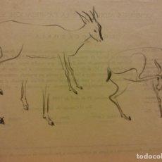 Arte: ORIGINAL. OBRA DE FRANCESC GASSÓ. ANIMALES. MEDIDAS 22*16 CM. Lote 218088186
