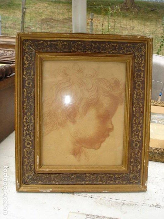 PRECIOSA SANGUINA DEL SIGLO XIX MEDIADOS CREO TODO ORIGINAL (Arte - Dibujos - Antiguos hasta el siglo XVIII)