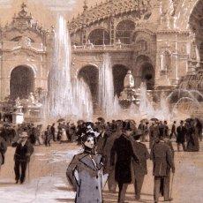 Arte: ANONIMO - ORIGINAL PARIS 1900 - EXPOSICIÓN UNIVERSAL. Lote 218260775