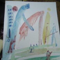 """Arte: DIBUJO A TINTAS DE CROMA MIGUEL SERRANO 30 X 21 CM. PRECIOSO DIBUJO MIGUEL SERRANO """"CROMA"""". Lote 218307893"""
