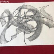 Arte: DIBUJO ABSTRACTO A LÁPIZ DE JORDI MARAGALL I MIRA.. Lote 218367797