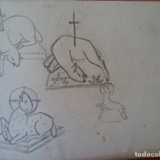 Arte: ORIGINAL. OBRA DE FRANCESC GASSÓ. ARTE RELIGIOSO. MEDIDAS 20*17 CM.. Lote 218460096