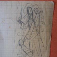Arte: ORIGINAL. OBRA DE FRANCESC GASSÓ. ARTE RELIGIOSO. MEDIDAS 10*16.5 CM.. Lote 218461196