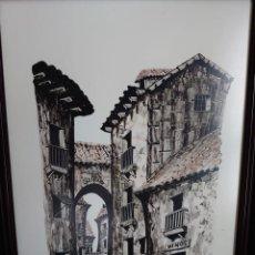 Arte: TINTA/ACUARELA MARTIN HIDALGO 79 ALREDEDORES DE TOLEDO. Lote 218597595