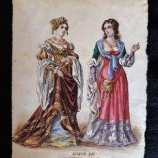 Arte: DIBUJO ORIGINAL DE MODA - LOIS XII - 1498 A 1515 -. S XIX. LEER LAS CONDICIONES ANTES DE PU. Lote 218647695