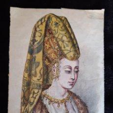 Arte: DIBUJO ORIGINAL DE MODA - PORTRAIL DE FEMME 1440 . S XIX. LEER LAS CONDICIONES ANTES DE PUJAR.. Lote 218647878