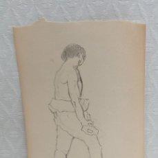 Arte: FIRMADO J.MIR. DIBUJO A CARBON DEL AÑO 1915. FORJADOR. Lote 218768543